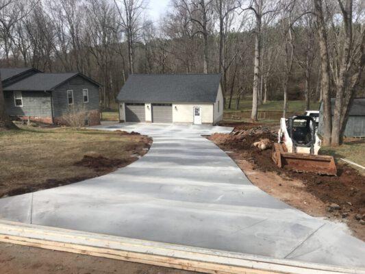 concrete driveway paving