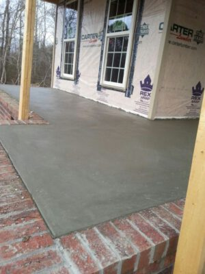 concrete porches patios greenville sc